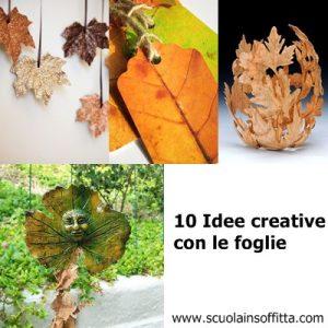 attività creative con le foglie