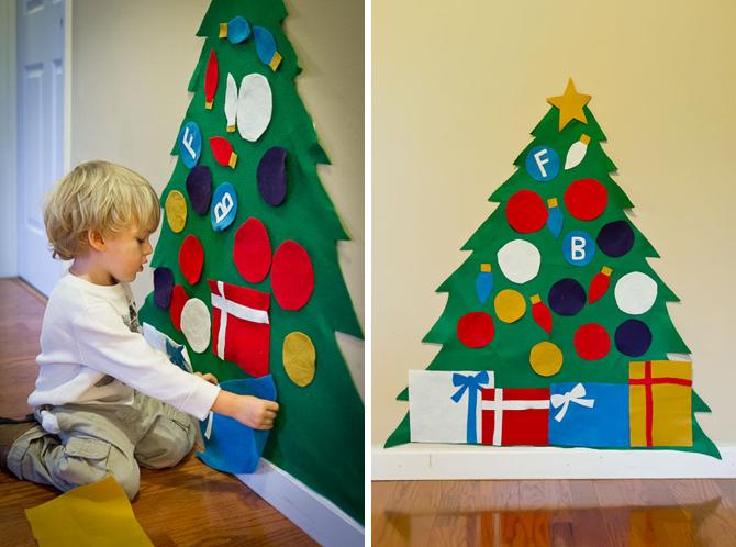 Albero di Natale Montessori fai da te