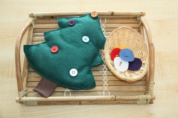 Albero di Natale Montessori in tessuto