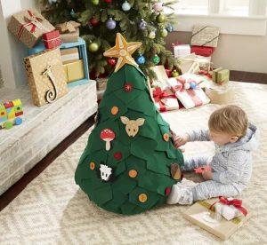 Albero di Natale Montessori in feltro