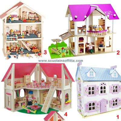 case delle bambole in legno