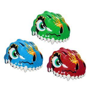 casco da bicicletta dinosauro