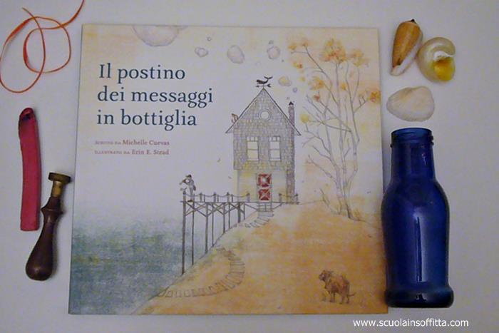 libro per bambini il postino dei messaggi in bottiglia babalibri