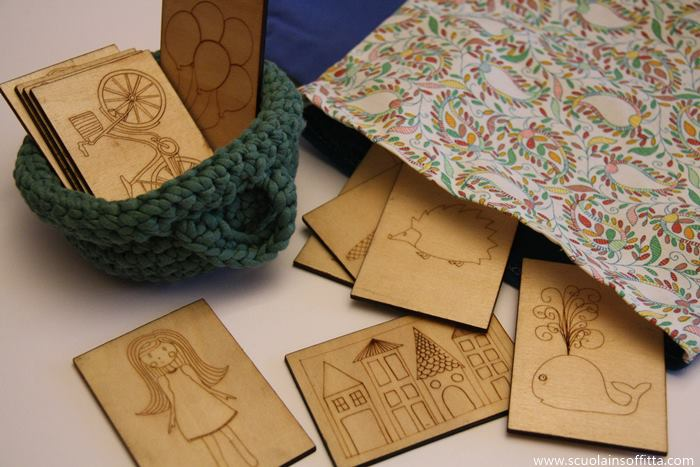 carte inventa storie in legno