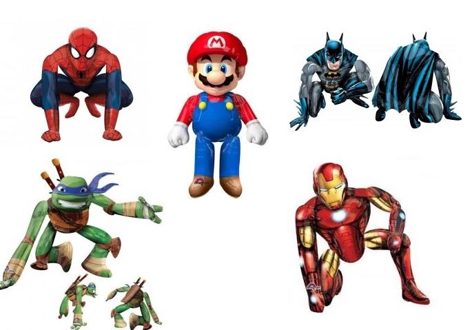 palloncini giganti super eroi