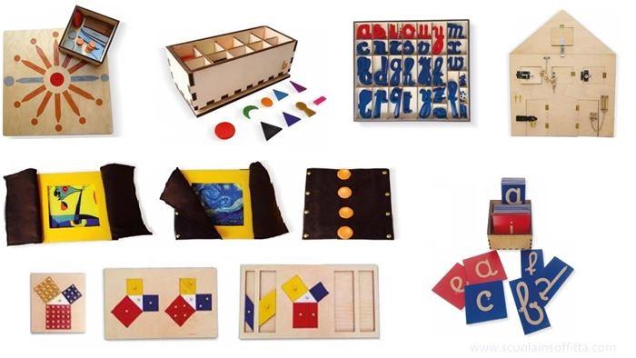 montessori 3d materiali montessori