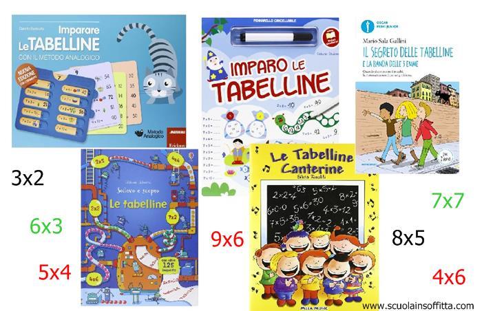 libri di matematica per bambini sulle tabelline