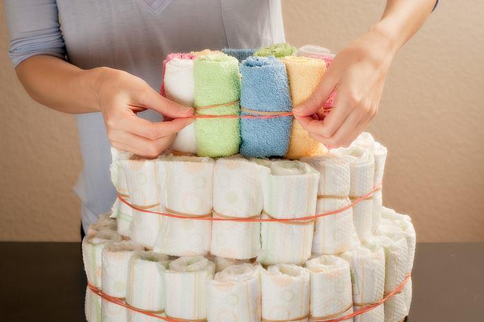 Idee originali per torte di pannolini