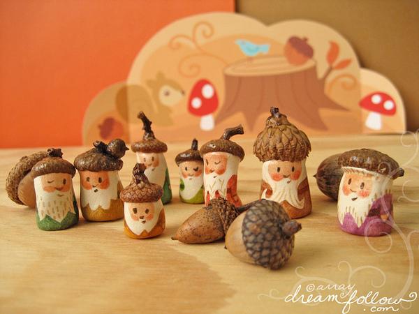 Lavoretti Di Natale Con Le Ghiande.10 Idee Creative Con Le Ghiande