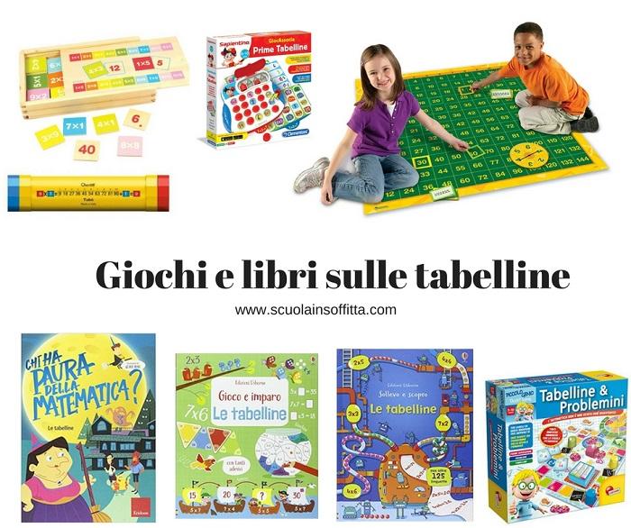 giochi e libri sulle tabelline