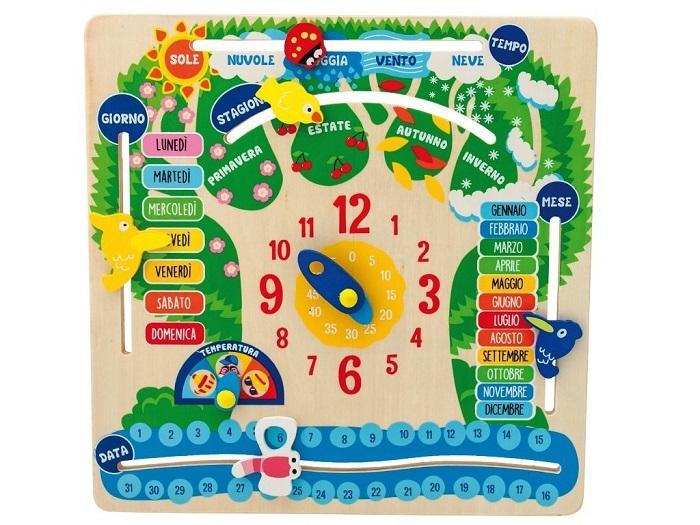 calendario didattico per bambini in legno