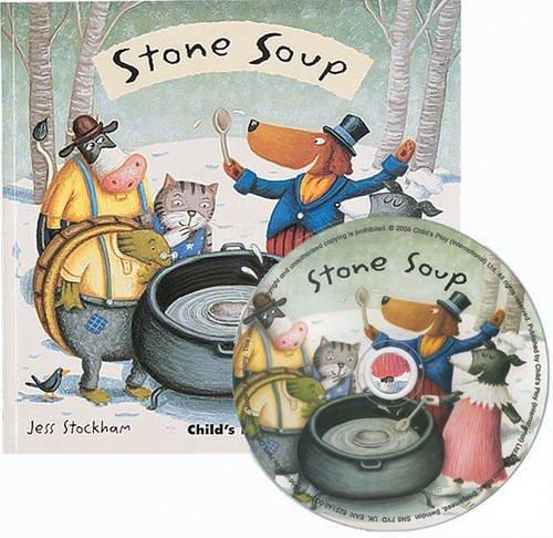 libro in inglese minestra di sassi con cd