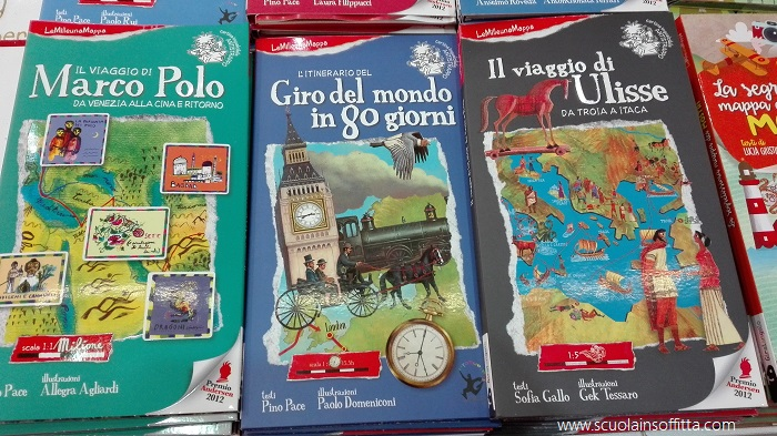 mappe con gli itinerari dei libri per bambini