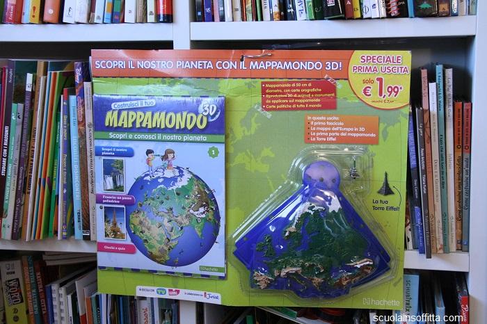 mappamondo 3d da costruire in edicola hachette