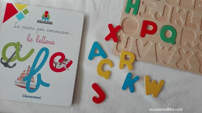 Le mani per conoscere... le lettere. Montessori. Clementoni