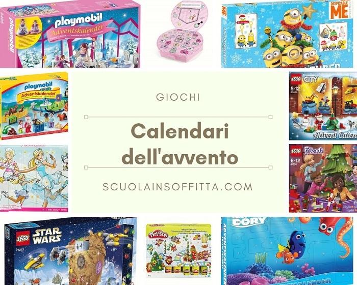 Calendari dell'avvento per bambini con i giochi