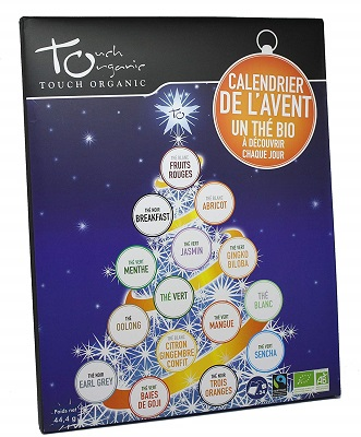calendario dell'avvento con tè