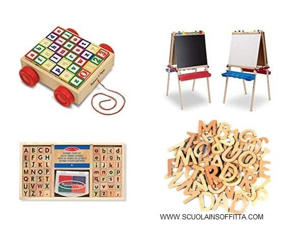 Giochi montessori lettere