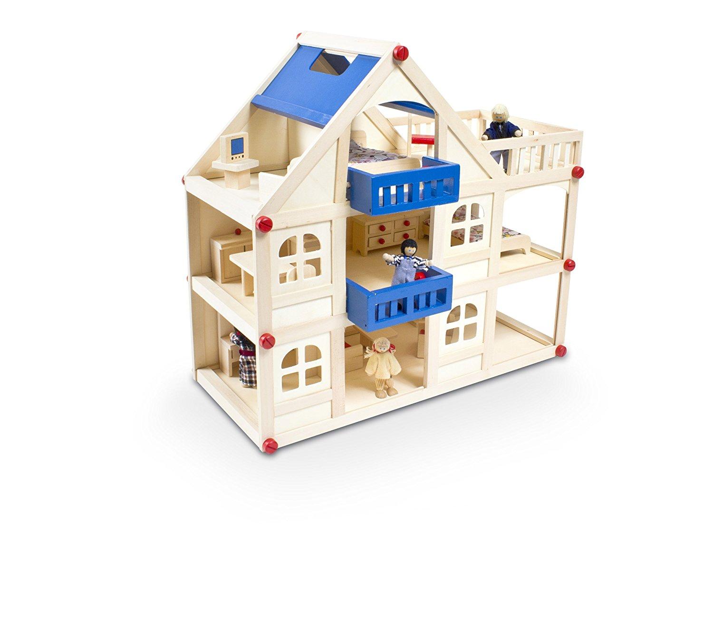 casa delle bambole con mobili
