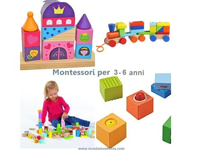 Giochi Montessori per bambini di 3 - 6 anni