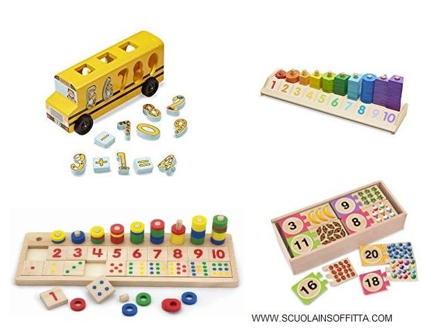 giochi montessori numeri