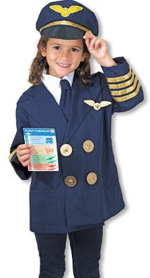 costume da bambina da pilota