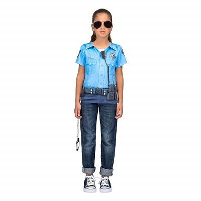 costume da bambina poliziotto