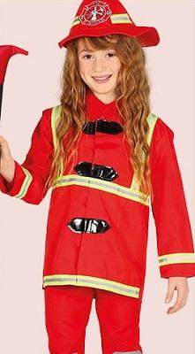 costume da bambina pompiere