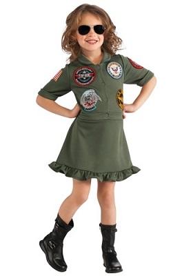costume top gun bambina