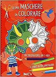 maschere dei dinosauri da colorare