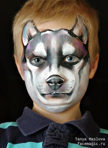 trucco di carnevale da lupo