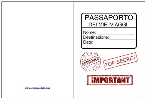 passaporto per bambini da stampare