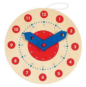 Orologio in legno per bambini