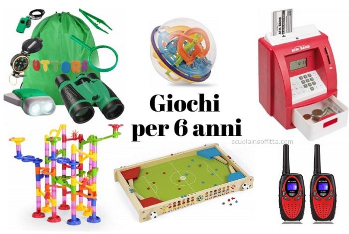 Giochi per bambini di 6 anni