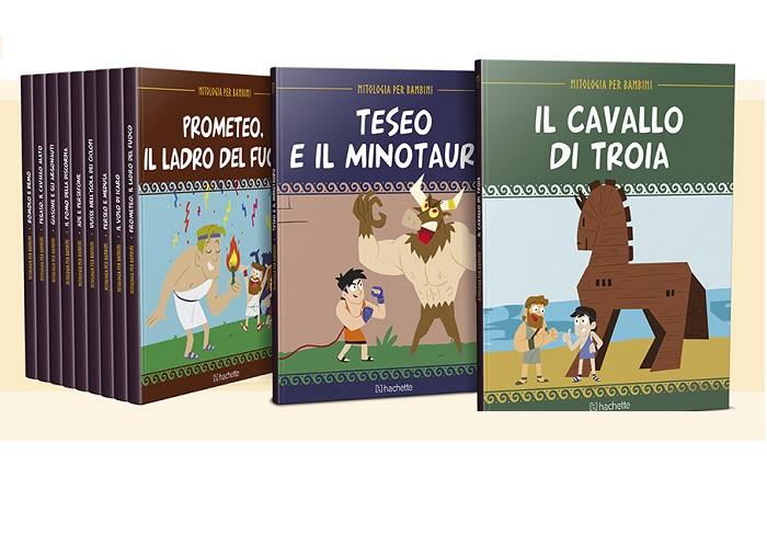 Mitologia per bambini libri sui miti di Hachette in edicola
