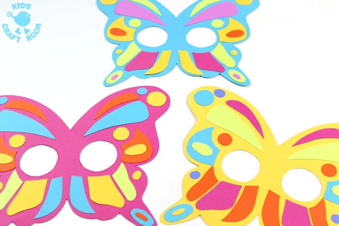 maschera da farfalla da ritagliare