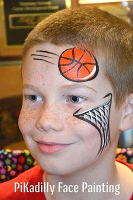 trucco per bambini basket