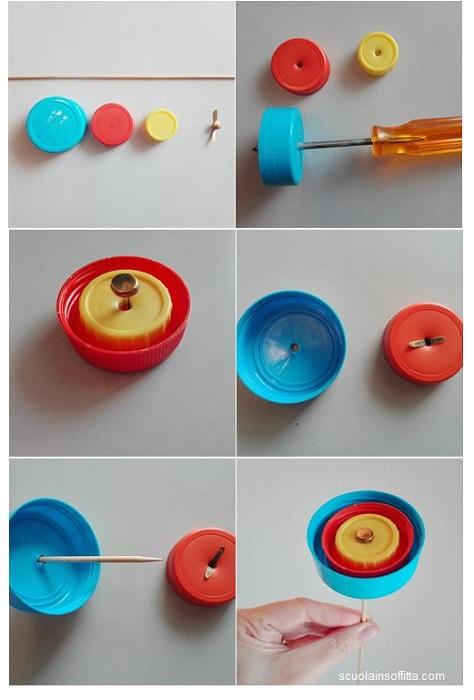 Tutorial per creare i fiori con i tappi di plastica