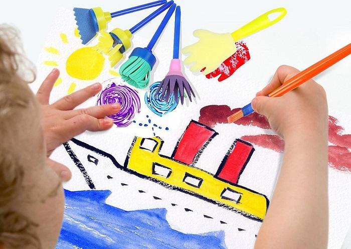 Attività creative per bambini: spugne da pittura