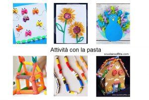 Attività per bambini con la pasta