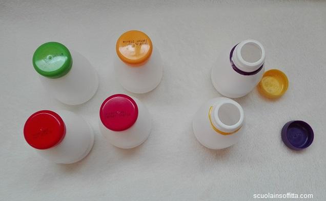 Gioco Montessori con i colori