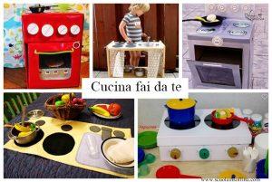 Cucina giocattolo per bambini fai da te