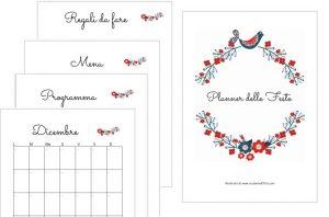 Planner delle feste da stampare